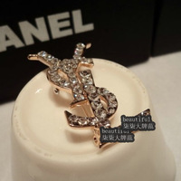 European and American letters to socialite Brooch Texture gorgeous temperament decorative needle Free Shipping