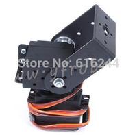 Free Shipping 1set 2 DOF Long Pan And Tilt Servos Bracket Sensor Mount Kit For Robot Arduino Compatible MG995 Wholesale Retail