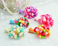 Free Shipping!2014 new hot 20pcs/lot Baby Loopy Puffs Ribbon Hair clips/Kids/Children/Girls/Princess/Hair Pins/Hair Accessories