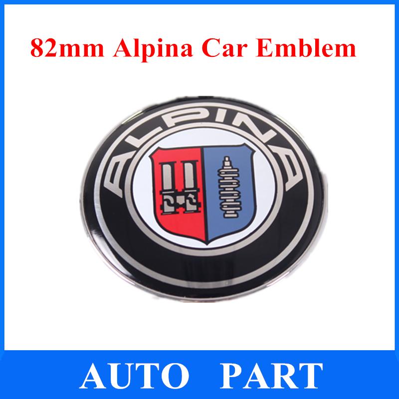 High Quality Modified 82mm Alpina Emblem with 2 Pins Car Badge 51148132375 Free Shipping(China (Mainland))