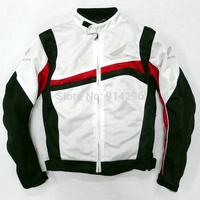 Free shipping!!!summer mesh jacket motorcycle racing jackets +5 pcs Fall protection Black White protector pads