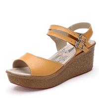 new 2014 women sandal platform sandals for women fashion summer shoes buckle wedge sandals ladies Sandalias