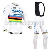 cycling clothing 2014 &cycling bib pant set 2014 cycling team long sleeve cycling jersey and bib pant kits black/green