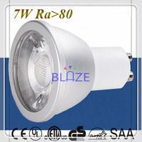 200pcs/Lot SAA CE Hot Sale Anti-glare 230V Dimmable GU10 led 7W COB Led light bulbs Ra>80 Ampoules Replace 65W 70W Halogen lamp