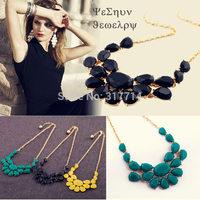 New Hot Factory Price Fashion Luxury Multicolour Acrylic Gem Drop Necklaces & Pendant Style Banquet Decoration Necklace XLBH174