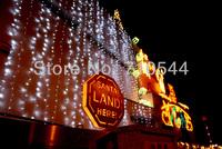 2014 New,12MX4M/39*13ft 1536 Led Curtain Lights String Xmas Wedding Lights,110/220,AU/EU/UK/US,Free DHL,High Power Controller