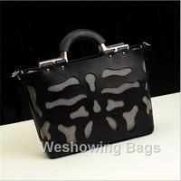 7 Colors Fashion Western Style Hollow Out Women Composite Bag Vintage Cut Out Shoulder Tote Handbag Black White Gold Blue