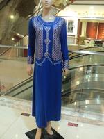 Muslim robe!Muslim lady's dress wholesale retail ! Polyster  abaya ,muslim