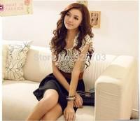 New 2014 summer maiden temperament melting dot waisting dress, South Korea fair maiden dress/ms summer sleeveless dresses
