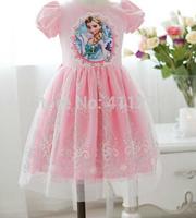 Retail children clothes kids clothing, girls dresses, girl summer frozen ELSA dress XZQ