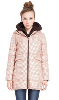 Cotton Coat Women Splashy Wool Liner 2 Caps Warm Coat 2014 Winter Free Shipping