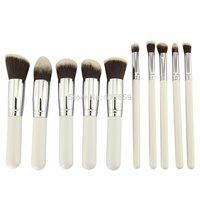 10PCS High Quality Makeup brushes New Pink Cosmetics Foundation Blending Make up Blush Wooden Makeup Tools