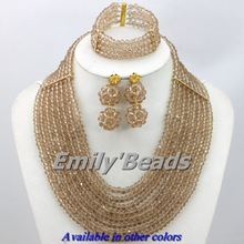 Available in Other Colors 8 Layers African Jewelry Sets Nigerian Wedding African Beads Jewelry Set Free