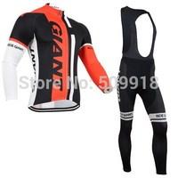 2014 cycling jersey&cycling bib pant set 2014  team cycling long sleeve cycling clothing/bib pant bike jersey