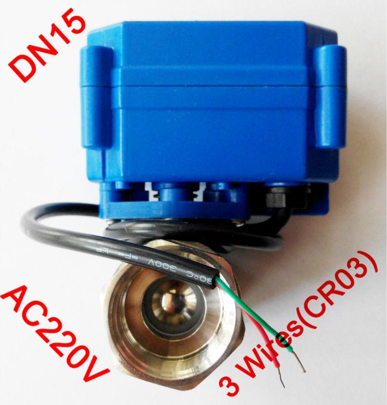 "Гаджет  1/2"" Mini electric ball valve 3 wires(CR03), AC220V motorized valve SS304, DN15 electric motor valve for brewing None Строительство и Недвижимость"