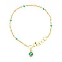 New Arrival Gold Chain Multi Color Turkish Evil Eye Bracelet Popular Design