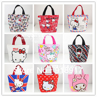 Free Shipping Hello Kitty women bags mini Handbag for girls Shopping Bag cotton cute