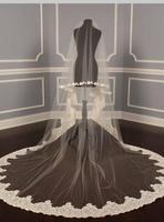 Best seller long lace bridal ivory wedding veil
