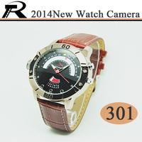 2014 New HD 720P H.264 night vision watch camera/hidden camera 301 supports 4GB/8GB/16GB/32GB optional Free shipping