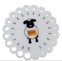 2pcs/lot Round Plastic Knitting Knit Needle Sizer Gauge Ruler Measure Tool 2/2.25/2.5/2.75/3.25/3.5/3.75/4/4.5/5/6/7//8/9/10mm