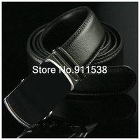 1 piece Free shipping Men automatic buckle leather belt stable black joker leisure fashion Business men belts #HSB009