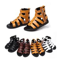 2014 summer new Korean girls fashion rivet soft bottom shoes fish head children sandals girls leather sandals