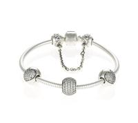 Top Quality Genuine 925 Sterling Silver European Sparkling Bracelet