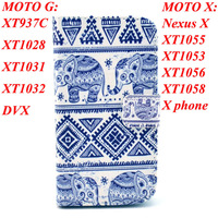 5pcs/Lot Luxury Flip PU Leather Case For Motorola Moto G Moto X Stand Cover Back Cases With Wallet And Card Holder Stand Pouch