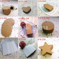 Min Order is $5,(1 Lot=50 Pcs) DIY Scrapbooking Paper Kraft Blank Hang Tags Crafts Wedding Postcards Gift Tag Label Card