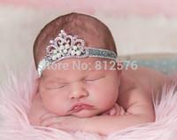 Trial Order Baby Glitter Elastic headband, Tiara headband, Crown headband, baby tiara , Princess headband,12pcs/lot