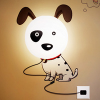 Flower 3d wallpaper wall lamp small night light child real cartoon wall lamp personalized bedroom bedside lamp
