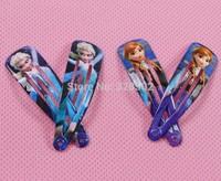 Free shipping 100pcs 2014 KPOP girls hairpins Children frozen Hair clips princess elsa anna hair clips for kids hair accessories