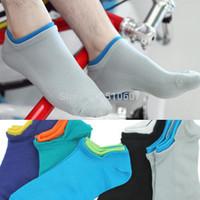 Breathable mesh combed cotton socks men's boat socks comfortable sports cotton socks