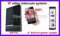 4 inch  IP WIFI  wireless  networ 4 wire valli Video Door Phone Intercom Systeml 3G  mobine phone contorl