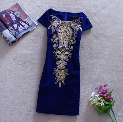 Платье с сутажной вышивкой 69