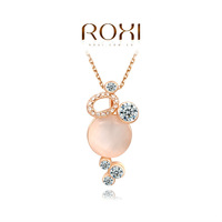ROXI rose-golden new arrival big pink pearl necklaces,trendy,fashion jewelrys for women,factory price,Christmas gifts