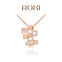 ROXI Exquisite rose-golen earrings,square combination earrings for elegant women party,new style,best Christmas gifts