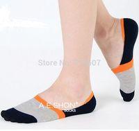 Summer Men's socks bamboo fiber super stealth non-slip socks male socks