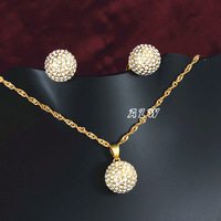 The wave pattern Pendant Necklace and earrings set jewellery colors option Bridal accessories ALW1761