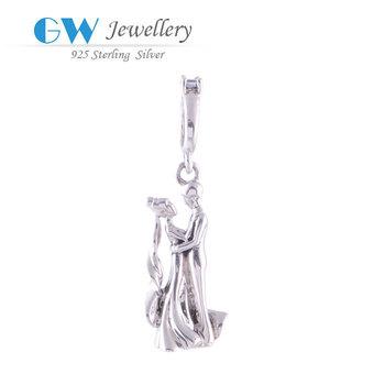 Valentine Love charm 100% genuine 925 sterling silver fits European brand bracelets ...