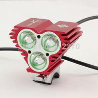 5000Lumen 3xCree U2 XM-L LED Bicycle Bike Headlight Lamp Camping Headlight Free shipping