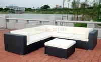 Indoor outdoor patio sectional rattan wicker furniture all weather proof furniture