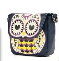 2014 new fashion women cute handbag cartoon owl shoulder bags women messenger bag