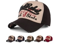 6 Colors Free Shipping 2014 New baseball cap Men Women Spring and Summer cowboy sports hat, HT181003