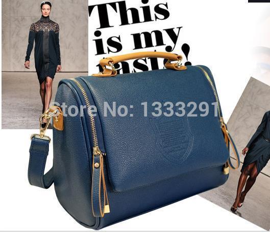 PU Artificial leather Candy Color new 2014 Popular women shoulder bag women leather handbags women messenger bags women handbag(China (Mainland))
