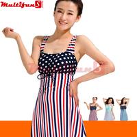 8413 stripe 3 colors white blue red green women swimsuit one piece swimwear women plus size one-piece swim  skirt  38266240779