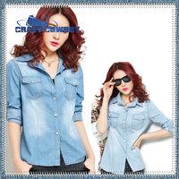 Blusas Femininas 2014 New Denim Shirt Plus Size Blouse Blusinhas Camisa Jeans Feminina Blusa De Renda Cardigan Women Jeans Shirt