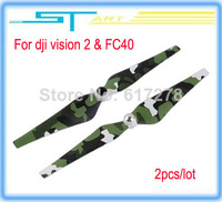 2014 hot 2pcs/lot DJI Phantom 2 Vision FC40 9443 Camouflage Propeller CW/CCW blades free shipping helikopter