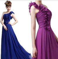 New chiffon bride wedding dress  long bridesmaid dresses show. Free shipping