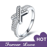 Butterfly Women Rings Sona Synthetic Diamond Wedding Engagement Rings For Women Row-diamond Platinum Plated Jewelry Rings Pt950